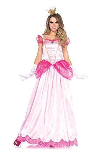 Leg Avenue Women's 2 Piece Classic Pink Princess Costume, Pink, Large