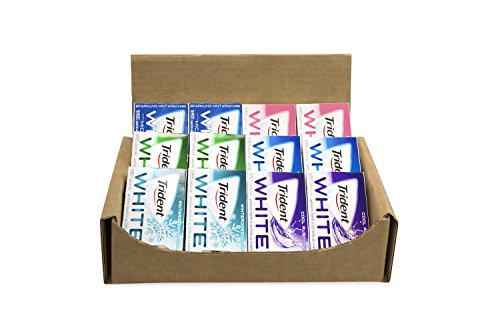 TRIDENT White Sugar Free Gum Variety Assortment 12 Pack (6 Flavors)