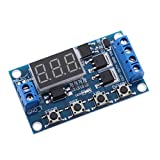 Homyl DC 5V~36V Delay Timer Control Switch Relay Module with LED Digital Display Used to Control Motors,Light Bulbs, Solenoid Valves, Micro Pumps