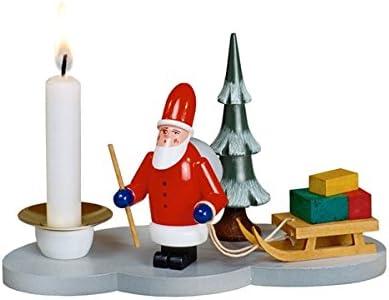 Kerzenhalter Weihnachtsmann 8cm Erzgebirge NEU