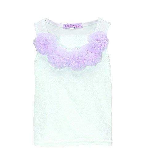 [Fancy Pettiskirt tank top dressy shirt girls dress up clothes 5-7, Purple] (Daisy Flower Halloween Costumes Kids)