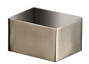 American Metalcraft Stainless Steel Rectangular Sugar Packet Holder, Satin Finish