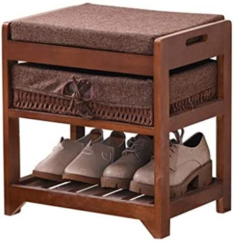 Double Layer Large Capacity Storage Cabinet Wooden Shoe Storage