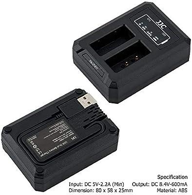 JJC Cargador de Batería Dual USB para Canon EOS M3 M5 M6 77D 750D 760D 800D 200D Cámaras Reemplaza Canon LP-E17
