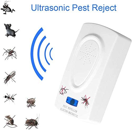 Ratón cucaracha repelente de insectos dispositivo ratas arañas mosquito asesino del parásito hogar de plagas controlador para mosquitos, hormigas, arañas, escarabajos, cucarachas, ratas - White: Amazon.es: Deportes y aire libre