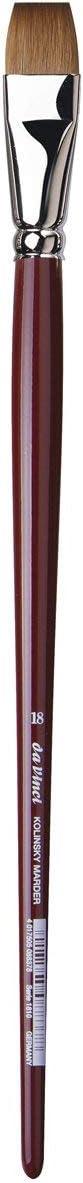 Flat Kolinsky Red Sable 1812-06 Size 6 da Vinci Oil /& Acrylic Series 1812 Oil Paint Brush