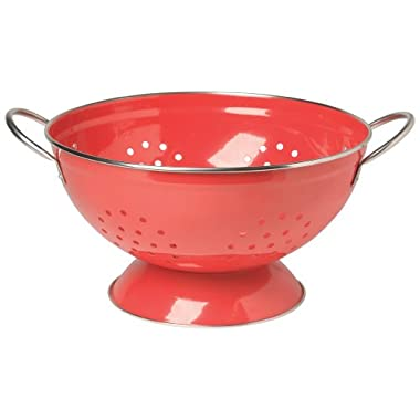 Now Designs Metal Colander, 3-Quart, Red