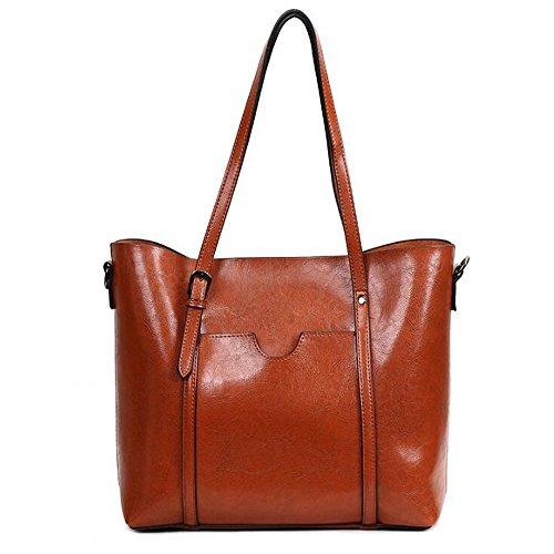 LQQAZY Bag A Europa Brown2 Donna Mano Retrò America E Borsa Messenger POqPxB