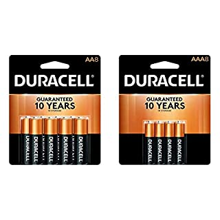 Duracell - CopperTop + Optimum AA Alkaline Batteries - long lasting, all-purpose Double A battery - 12 count