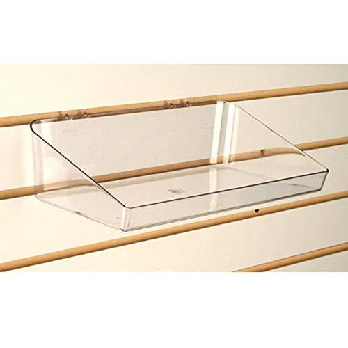 - Pegboard & Slatwall Clear Acrylic Tray Display Bin, 6