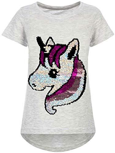 Kmisso Meisjes T-shirt omkeerbare pailletten 30060