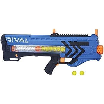 amazon com nerf rival khaos mxvi 4000 blaster blue toys games Mega Nerf Gun Mega Nerf Gun