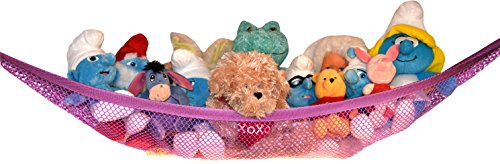 Toy Storage Net For Stuffed Animals   Top Quality Hammock By Kidde Time  Pink