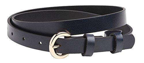 Ladies Slim Belt - Arnicus Womens / Ladies Slim Leather Belt in Navy / Size 16