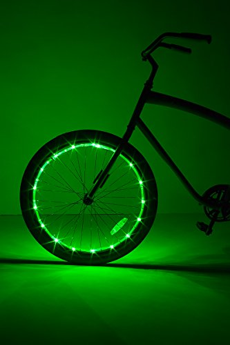 Brightz, Ltd. Wheel Brightz LED Bicycle Accessory Light (for 1 Wheel), Green