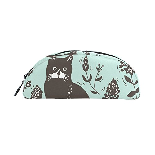 DEYYA Cat Lithograph Pencil Case, Large Capacity Pen Bag Pen Pouch Stationery Pouch Zipper Box Office Organizer Travel Makeup Bag