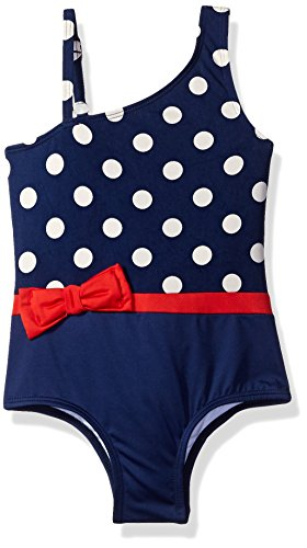Jantzen Little Girls' One Piece Swimsuit, Nautical Dot,
