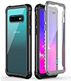 Wireless : Samsung Galaxy S10 Plus Case,Temdan Built-in Screen Protector Full Body Protect Support Wireless Charging,Heavy Duty Dropproof Case for Samsung Galaxy S10 Plus 2019 Release (Clear/Black)
