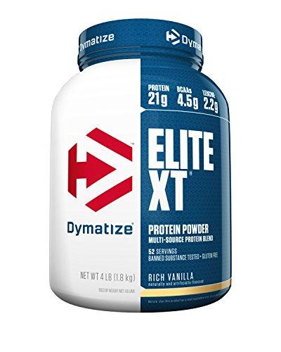 Dymatize Elite XT Extended Release Protein, Rich Vanilla, 4 lbs
