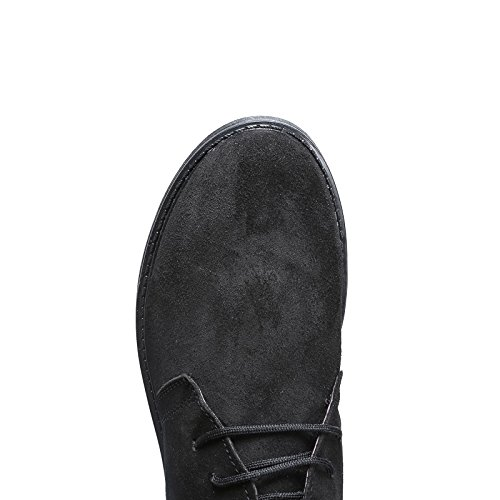Camoscio Shoes Polacchino Para Pelle Scarponcino 1312 Nero Scarpe Mforshop Uomo Vera qxpHtnX