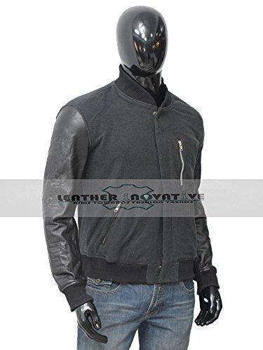 Michael B. Jordan Adonis Johnson Creed Movie Battle Wool & Leather Jacket (Large) by Leather Inovative