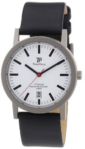 Time Piece Herren-Armbanduhr XL Titan Lederband Analog Quarz Leder TPGT-50221-11L