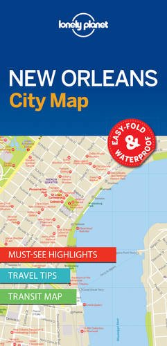 Lonely Planet New Orleans City Map (Travel Guide)