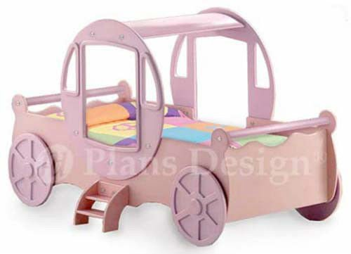 Princess Cinderella Carriage Twin Bed Woodworking Project Plans, Do It Yourself - Country : United States