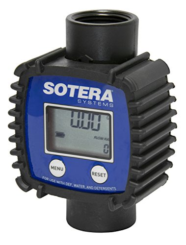 Sotera FR1118P10 Inline Flowmeter, Digital, Blue/Black by Sotera