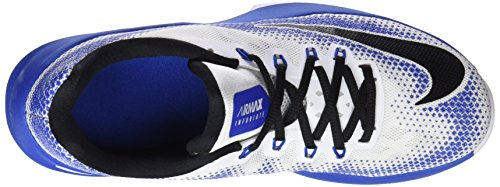 NIKE Mens Air Max Infuriate Low Basketball Shoe Blue/White ZkykROZmzR