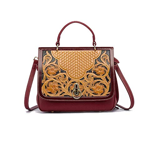 Sac Voyage Red à Ethnique Main Femme Style Rétro Sac Mode Pour à Bandoulière AJLBT Simple Sac Chinois qxUgH7wnO