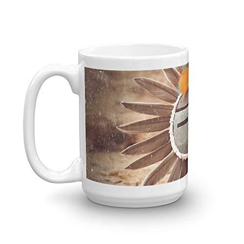 Sun Kachina 15 Oz White Ceramic ()