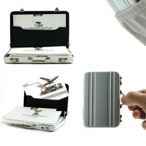 1 X Hot Mini Briefcase Business Card Case Coin Case Aluminium Credit Card Holder