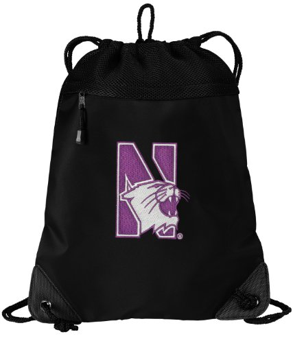Broad Bay Cotton Northwestern Wildcats Drawstring Bag Nor...