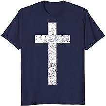 Christian T-Shirt Distressed Cross