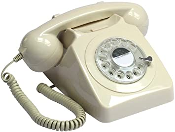 Retro Vintage Style Old Fashioned Telephone Ivory Amazoncouk