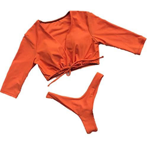 Bain Maillots Plage De Kpilp Pousser Orange 1 Femme Vêtements Maillot Sexy Bikini Pièce Une gtqf1wq