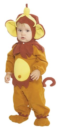 [Rubie's Costume EZ-On Romper Costume, Monkey See Monkey Do, 0-6 Months] (Monkey See Monkey Do Costume)