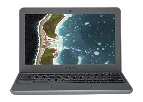 ASUS Chromebook C202SA-YS02 11.6in Ruggedized and Water Resistant Design with 180 Degree (Intel Celeron 4 GB, 16GB eMMC, Gray & Silver (Renewed)