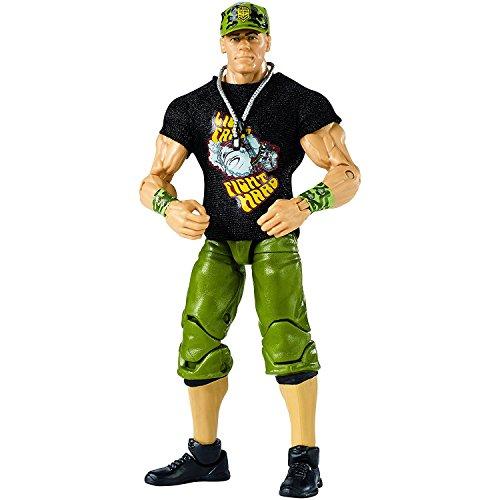 John Cena: WWE Wrestle Mania Elite Action Figure + 1 Official WWE Trading Card Bundle [FMH76]