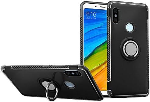 LAGUI Funda Xiaomi Redmi Note 5 Pro, Carcasa con Anilla Posterior y Placa de Metal, Robusta Caja Híbrida TPU/PC de Doble Capa, Soporte de Montaje ...