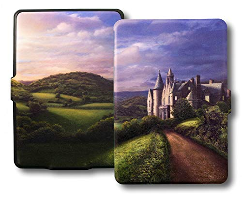 Ic Cover - RL-Art Case for Kindle Paperwhite -Thinnest, Lightest PU Leather Magnetic Cover w/Auto Sleep/Wake for Amazon Paperwhite (Fits 2012, 2013, 2015 and 2016 Gen. Won't Fit 2018 Model) (Castle Sunset)