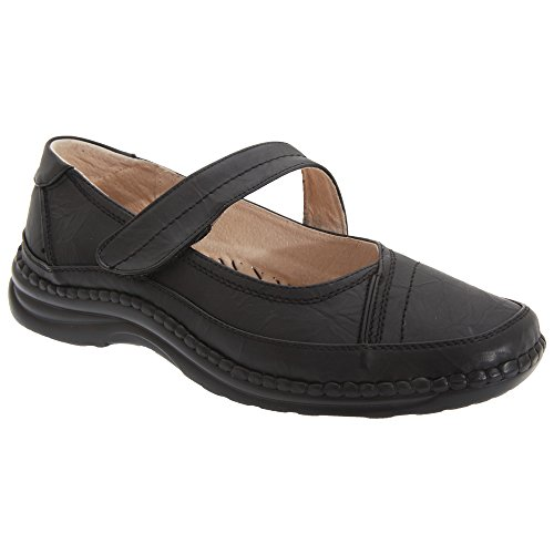 Boulevard Womens/Ladies Extra Wide EEE Fitting Mary Jane Shoes (10 US)  (Black)