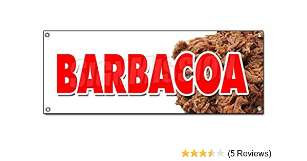 Amazon.com : BARBACOA BANNER SIGN caribbean mexico mexican pork beef goat barbecue : Office Products