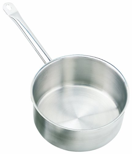 Crestware 5-Quart Stainless Steel Saute Pan with Pan Cover