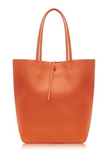 Montte Di Jinne Bolso al hombro de Piel para mujer Marrón marrón chocolate L Burnt Orange