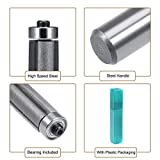 uxcell Router Bit 1/2 Shank 1/2 Inch Cutting Dia. 3 Inch Depth Flush Trim Bit with Bearing 2 Flutes HSS for Woodworking Milling Cutter Tool