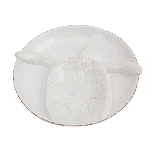 Shell Pie Server - Mud Pie Turtle Section Serving Bowl Platter, White