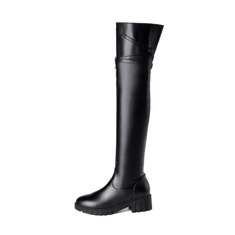 Carolbar Womens Fashion Party Over-The-Knee Boots