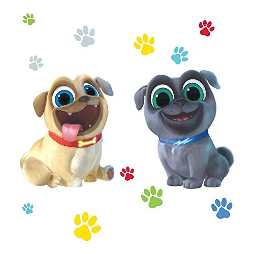 (Puppy Dog Pals Puppy Paw Prints Bingo Rolly Edible Cake Topper Image ABPID00175 - 1/4 sheet)